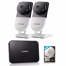 Zmodo 4CH NVR 2 IP Wireless Audio Indoor Home Video Security Camera System 500GB