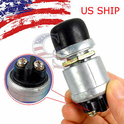 12 Volt Dc Heavy-duty Momentary Push-button Engine Starter Switch 50 Amps