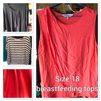 Breastfeeding tops x 3