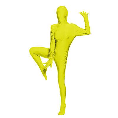 Gelb Ganzkörperanzug Ganzkörper Second Skin für Fasching Halloween Motto ()