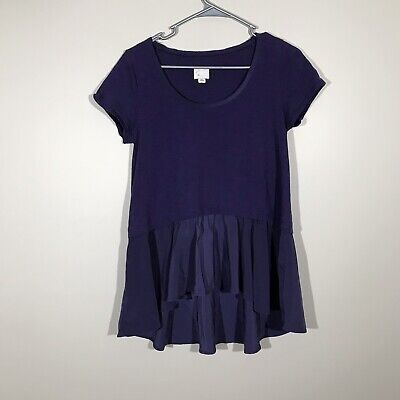 Postmark By Anthropologie Flowy Blouse Shirt Top Tee T-Shirt Small
