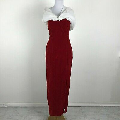 80s Dresses | Casual to Party Dresses Vintage 1980s Prom Dress Size S Red Velvet Distressed Gown Party $23.75 AT vintagedancer.com