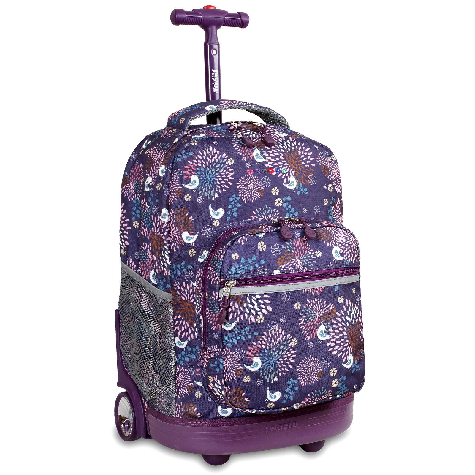 unisex luggage rolling backpack 18 travel bag