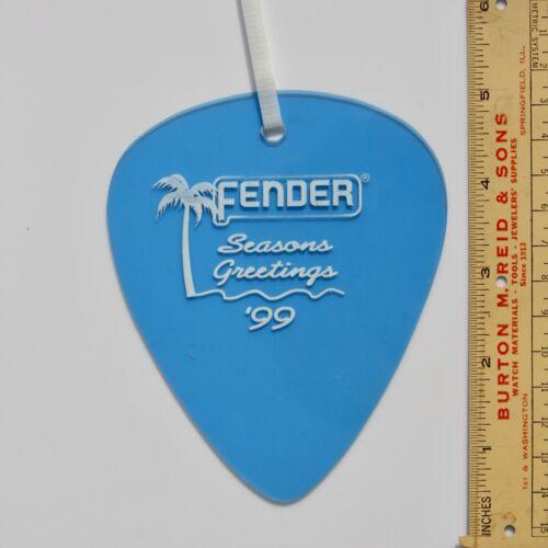 Fender Giant Guitar Pick DEALER Ornament 1999 California Clear -Lake Placid Blue