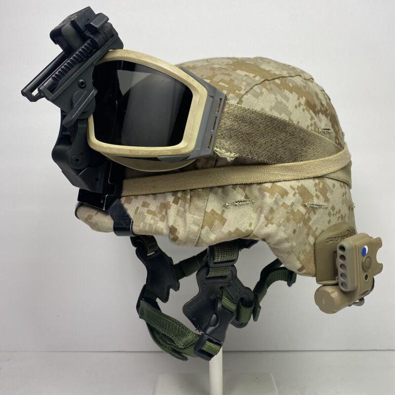 Medium Gen 1 LWH USMC Marine Corps Lightweight Helmet MARPAT Combat Ballistic