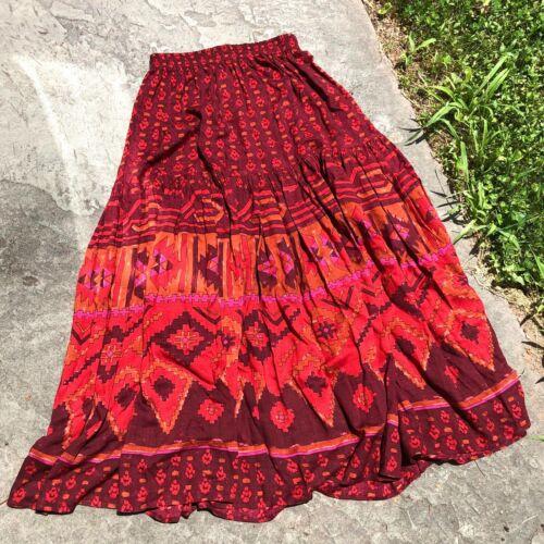 Vtg Womens Carole Little for St-Tropez maxi skirt, Vintage boho vibes skirt sz6