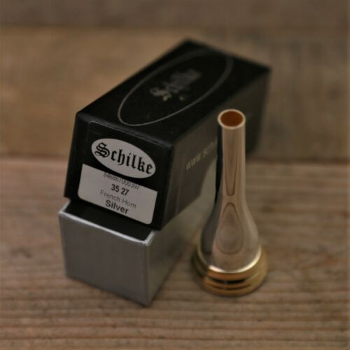 Schilke 27 Silver With Gold Rim and Cup French Horn Mouthpiece #MP155