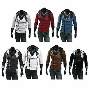 US-Seller-Assassins-Hoodie-Jacket-Cosplay-Costume-Mens-Coat-Fast-Shipping-PK2