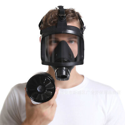 Respirator Full Face Gas Mask Wide View Air Pipe Connected Face Cover Utility