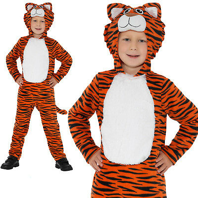 Tiger Costume Animals Boys Childrens World Book Day Week Fancy Dress Outfit](Childrens Book Costumes)