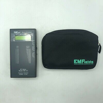 Emfields Acoustimeter Rf Meter Model Am-10 Frequency Response 200 Mhz - 8 Ghz