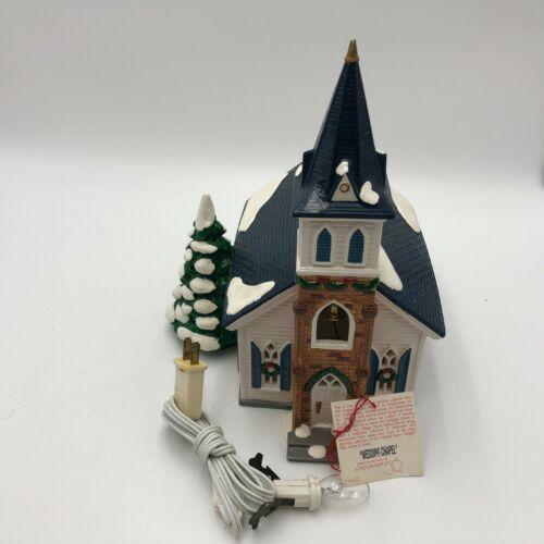 Dept 56 Light 1994 The Wedding Chapel Christmas Snow Village 5464-0 Box Vintage