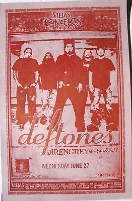 DEFTONES/DIR EN GREY 2007 SAN DIEGO CONCERT TOUR POSTER -Alternative Metal Music