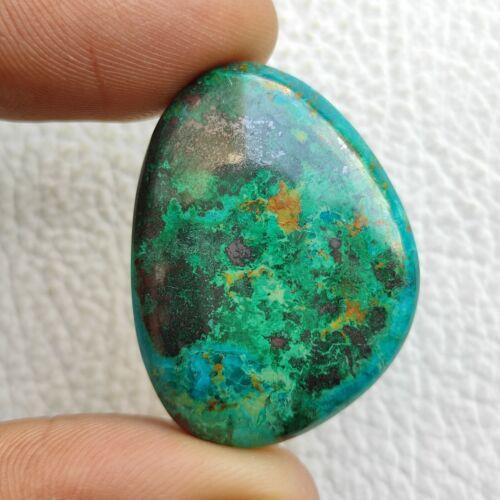 Multi Colour Chrysocolla Azurite Cabochon 80ct Gemstone Semi Precious Stone C388