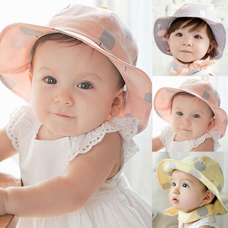 Babymütze Neugeboren Schlapphut UV-Schutz Sommer Sonnenhut Anglerhut Mütze Kappe