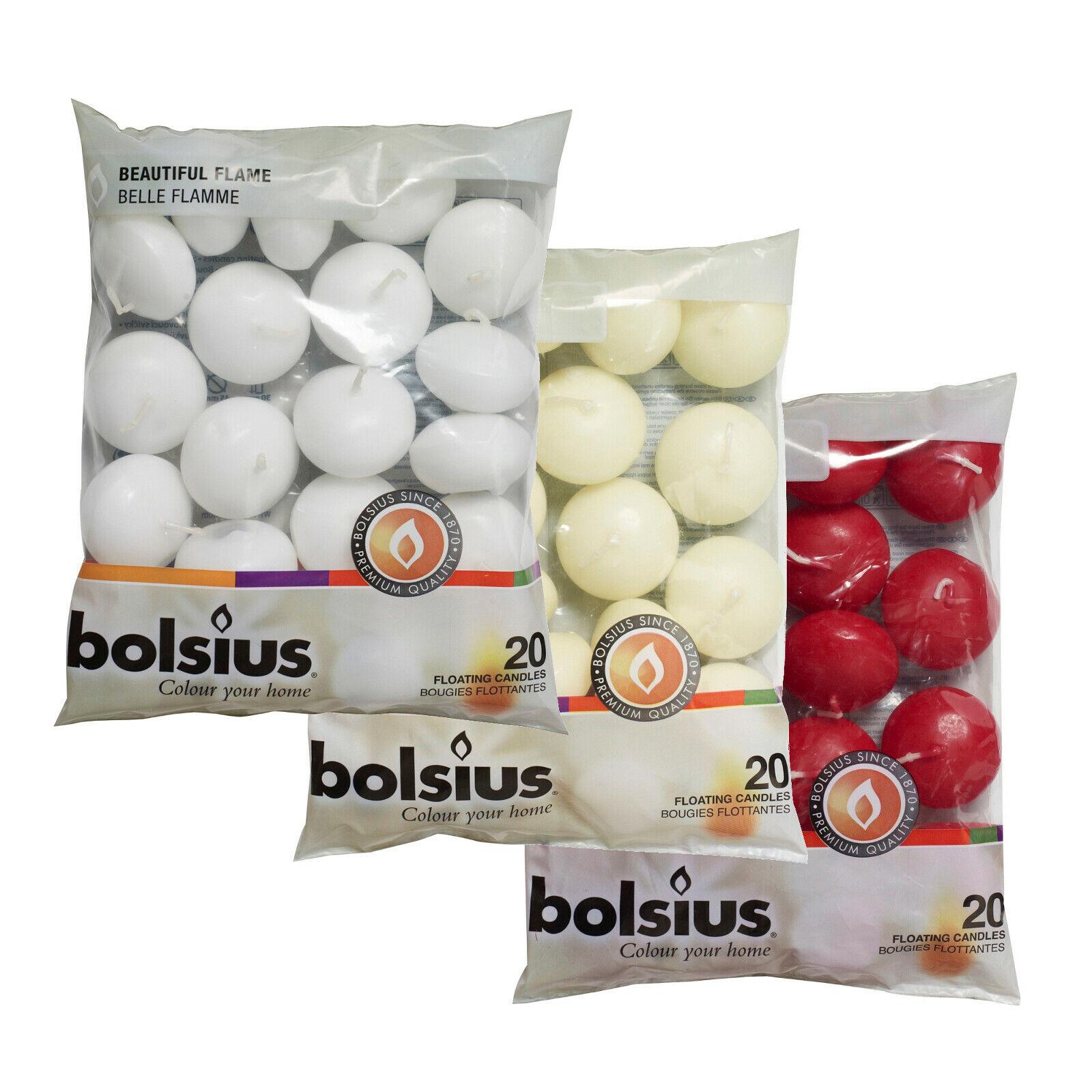 Bolsius Schwimmkerzen im 20er Beutel 30x45 mm ca. 4,5 Std. verschiedene Farben