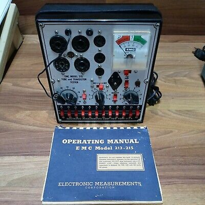 Emc Model 215 Tube And Transistor Tester - Manual Untested For Repair Or Parts