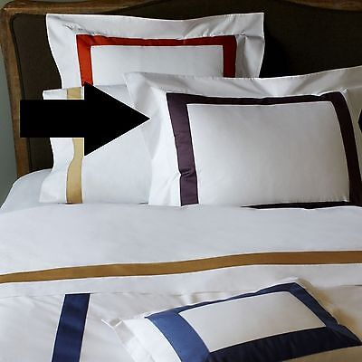"Sferra Orlo Standard Pillowsham Sham 21"" x 26"" White/ Purple $100"