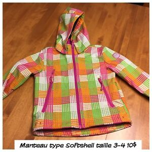 Manteau type Softshell 3-4 ans