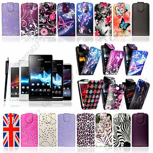 Top-Opening-PU-Leather-Magnetic-Flip-Case-For-Various-Sony-Xperia-Phones-Stylus