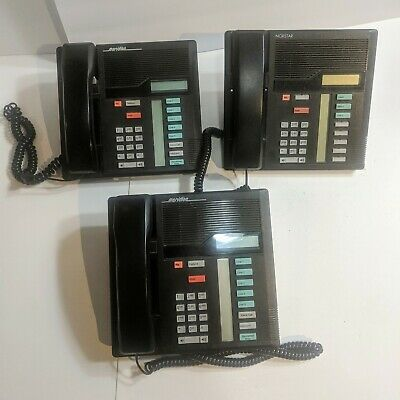Lot Of 3 Nortel Meridian Norstar Northern Telecom M7208 Office Desk Wall Phone