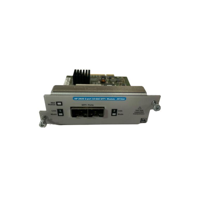 HP J9731A 2-Port 10GbE SFP+ Switch Module (Refurbished)