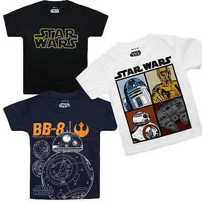 Star Wars Kids Boys T-Shirt - Official  - Ages 3-12