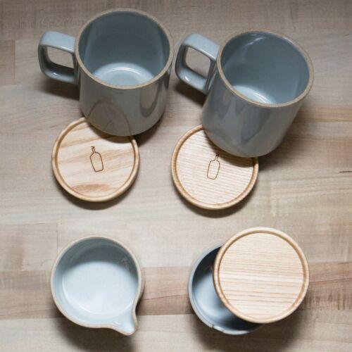 Blue Bottle Coffee Company 2 Porcelain Mugs Coasters Sugar Pot w/ Lid Milk Pitch