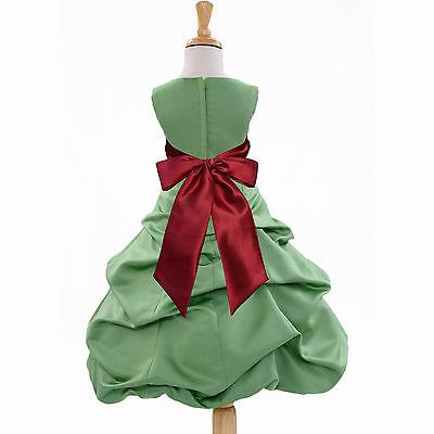 CLOVER GREEN CHRISTMAS FLOWER GIRL DRESS FOR WEDDING RECITAL BIRTHDAY HOLIDAYS ()