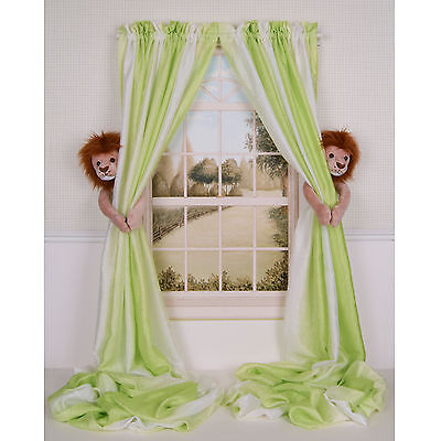CURTAIN CRITTER BABY KID NURSERY JUNGLE SAFARI ZOO LION CURTAIN TIEBACK TOY SET!