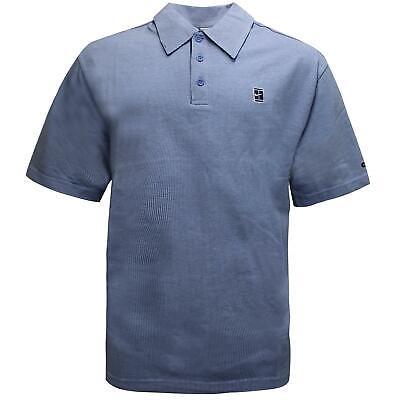 Nike Mens Dri-Fit Polo Shirt Casual Tee Check Blue 141279 451