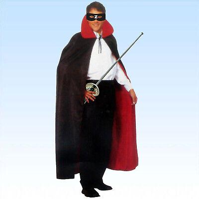 Zorro Set Umhang Maske Florett Kostümzubehör für Zorrokostüm - Zorro Kostüm Zubehör