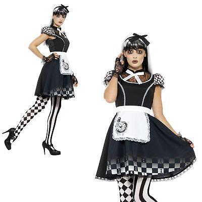 Adult Ladies Gothic Dark Alice Halloween Costume Wonderland Fairytale Cosplay - Gothic Alice In Wonderland Costume