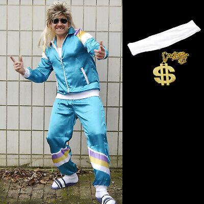 80er Trainingsanzug Karneval Kostüm Fasching Herren Retro 80s Jogginganzug #r3