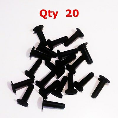 6-32 Threaded Insert C632 Well-Nut Neoprene Rubber and Brass NIB - 710816