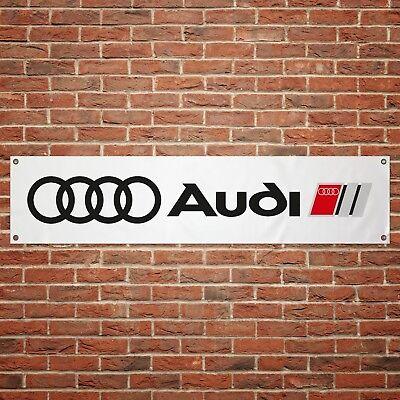 Audi Banner Garage Workshop PVC Sign Trackside Motorsport Car Display
