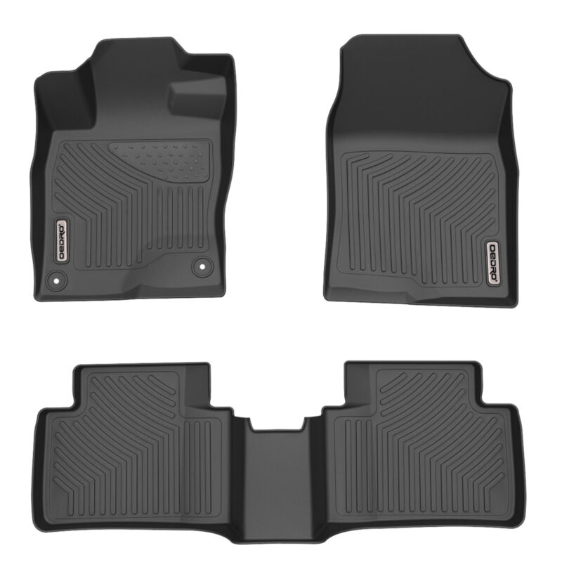 MotorFansClub Floor Mats Liners Fit for Compatible with Honda Civic Accessories Sedan Hatchback 2016-2020 Cargo Carpet All Weather Protector Front Rear Mats TPE Black