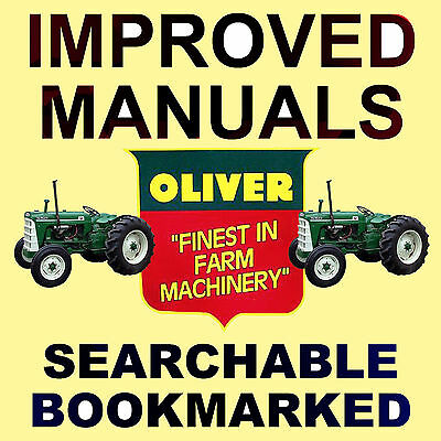 Oliver 550 Tractors Service Manual Shop Parts -6- Manuals Best Searchable Dvd