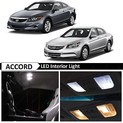 14x White Interior + License Plate LED Lights Bulbs Fits Honda Accord 2003-2012