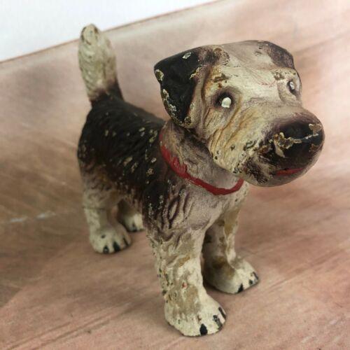 Vintage Cast iron terrier dog figurine paperweight doorstop