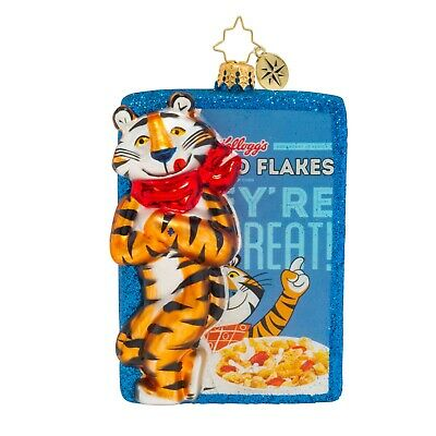 [NEW Christopher Radko FROSTED FLAKES THEY'RE GRRRREAT Christmas Ornament 1019630</Title]
