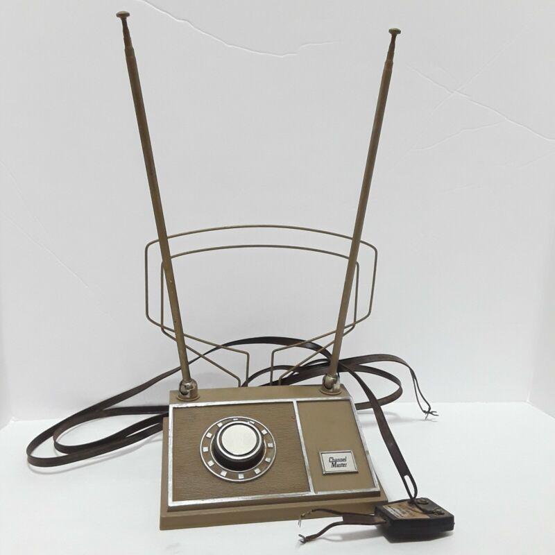 Vintage Channel Master Rabbit Ear Adjustable Antenna w/ TV Interference Filter
