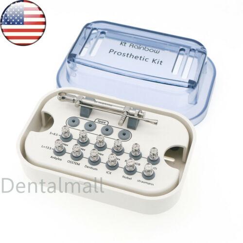 Universal Prosthetic Dental Implant Abutment Torque Wrench Drivers Kit 10-70NCM