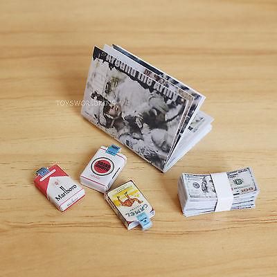 "1:6 Scale Handmade Military Magazine Cigarette Packs Cash For 12"" Action Figure"