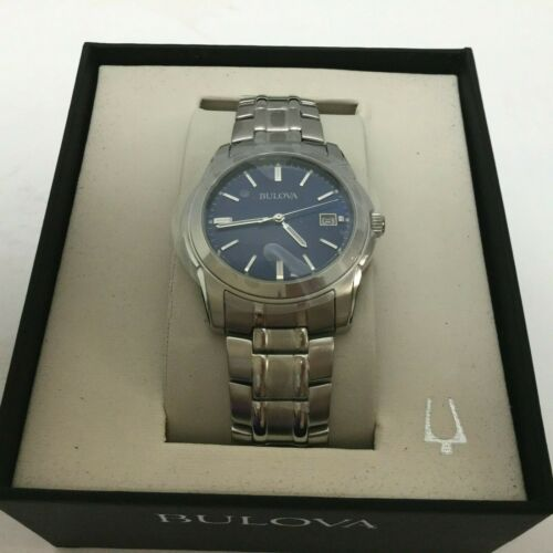 Bulova Blue Dial Stainless Steel Men