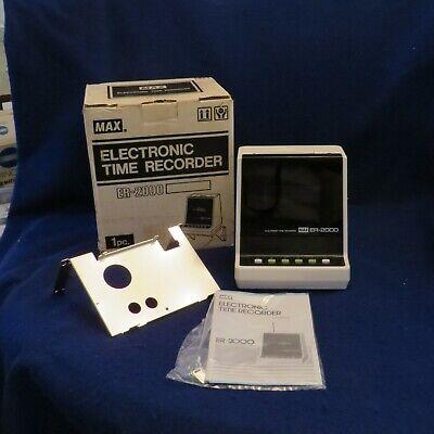 Nos Max Co. Electronic Time Recorder Clock Er-2000 New Wbrackethardwaremanual