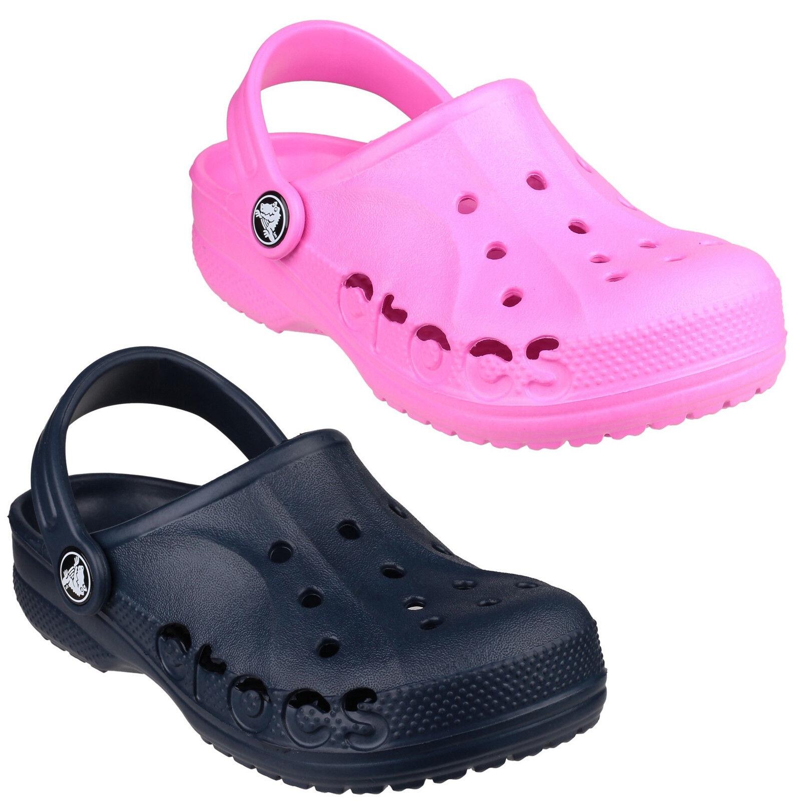 outlet store e22a4 321fd Details about Crocs Baya Clogs Childrens Croslite Lightweight Kids Boys  Girls Shoes Sandals