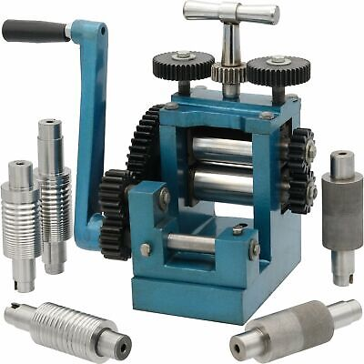 """3"""" (80mm) Combination Rolling Mill with 7 Rollers Jewelry Design Tool"""