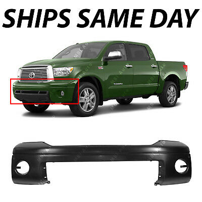 Truck Front Bumper - NEW Primered - Front Bumper Cover for 2007-2013 Toyota Tundra Truck w/ Park Asst