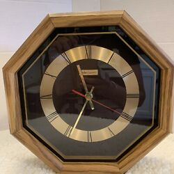 Vintage Linden Quartz Wooden Wall Clock Octagon Battery